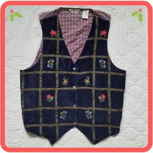Vintage Victoria Jones Blue/Red/White Vest